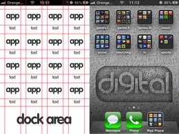 Template sfondo iPhone
