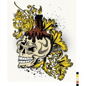 SKULL T-SHIRT VECTOR DESIGN.eps