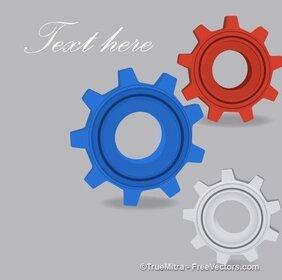 Gear Wheels Vectors