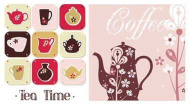 Coffee pot teapot pattern