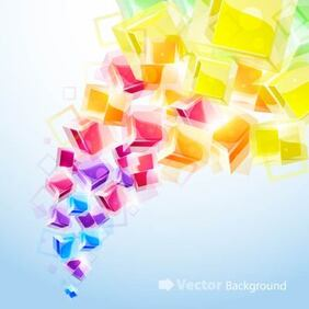 Colorful Background with Fluorescent Cubes