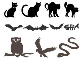 Halloween Animals Silhouettes
