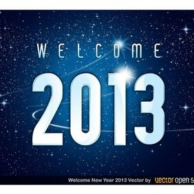 WELCOME 2013 YEAR VECTOR DOWNLOAD.eps
