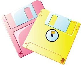 Floppy disc vector 2