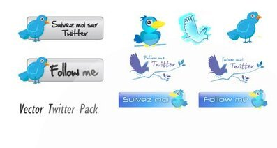 Vector Twitter Pack Twitter iconos vectoriales Twitter Vector Twitter Icons