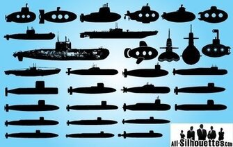 Submarine Ship Pack Silhouette