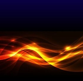 Abstract Golden Glow Background