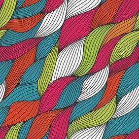 Abstract Colorful Yarn Background