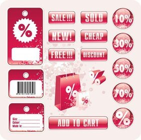 Discount store sales tag
