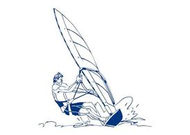 Windsurfing muž Design