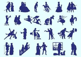 Retro People Silhouettes