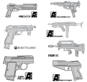 Free Pistol Vector Art