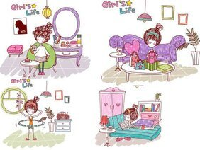 Girl's life, Vector EPS Girl's Life8