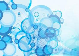 Blue Circles Background