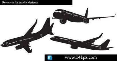 Airplane Free Vector Silhouettes