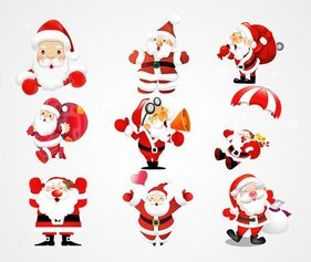 Illustration vectorielle de Santa Claus (gratuite)