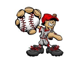 Baseball cartoon character 03