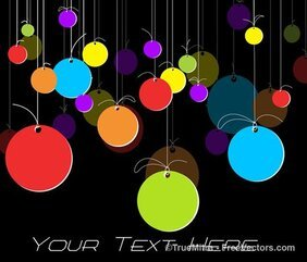 Colorful Tags Background