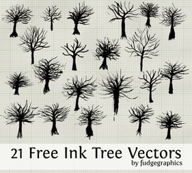 Free Ink Tree Vectors