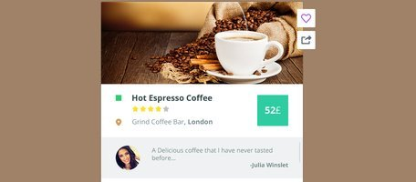 Ecommerce UI Coffee Widget