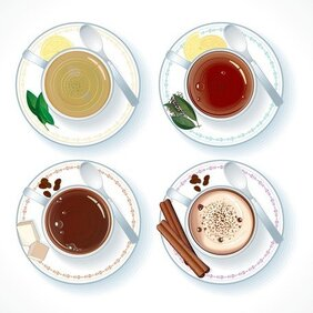 Vector Coffee And Tea