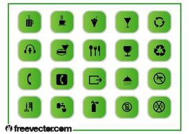 Groene Icons Graphics Set