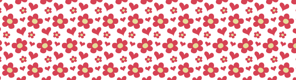 Heart And Petal Seamless Vector Pattern