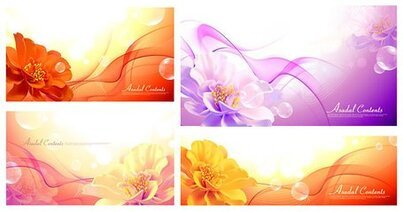 Vector background of the flowers and the Dream material