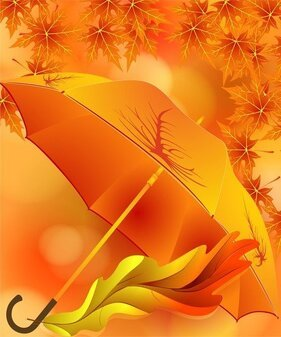 Beautiful Maple Leaf Umbrella 01