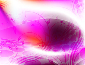 Abstract Curvy Floral Pink Background