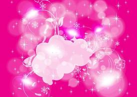 Pink Winter Background