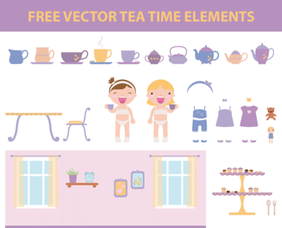 Free Vector Tea Time Elements