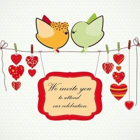 Handdrawn Illustration Love Birds 02