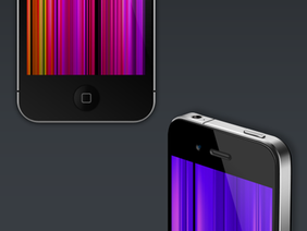 3 views of Vector iPhone 4 + Bonus Backgrounds