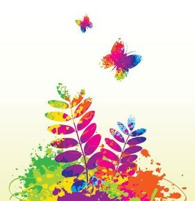 Splashes of color pattern 02