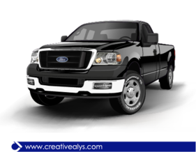 Ford Realistic Black Pickup Truck