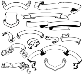 free ribbon banner clipart in ai, svg, eps or psd  clipart.me