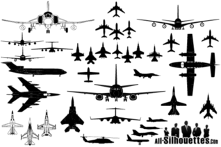 Vector Airplane Clipart Silhouettes