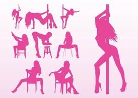 Vectores de chicas stripper