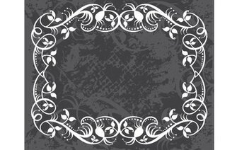 Grungy Swirl Floral Frame Layout