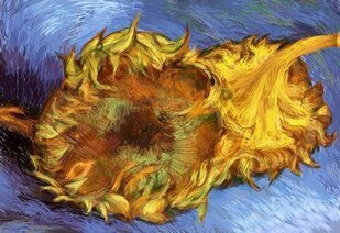 Vector Van Gogh Sunflower