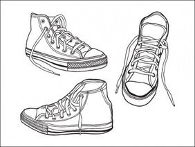 Grov, Hand dras illustrerade Sneakers