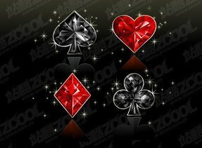Diamond Poker texture vector graphic material