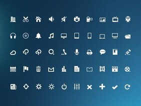 Mini Glyph Icons(PSD)