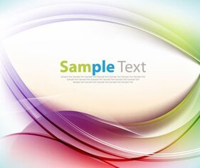Colorful Silky Waves Template Background