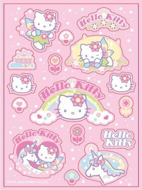 Vector roze kitty en the Unicorn