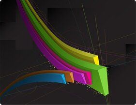 Color Threedimensional Dynamic Lines Of The