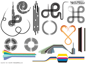 Line Art Vector Design Elements Set-9