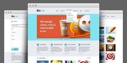 BisLite: Sito Web Business PSD Templates