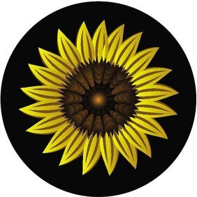 SUNFLOWER VECTOR IMAGE.eps